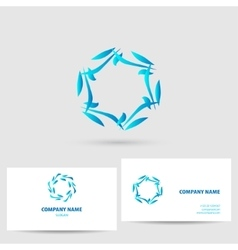 icon with business card template vector image