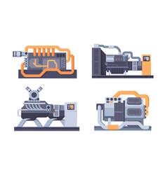 Industrial generator steel jerrycan fuel vector