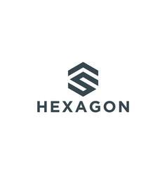 initial hexagon logo design inspiration vector image
