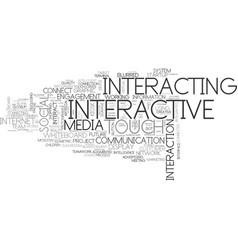 Interacting word cloud concept vector