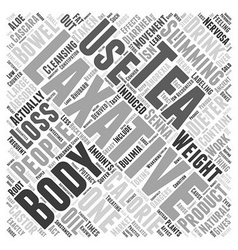 Laxatives And Weight Loss Word Cloud Concept vector