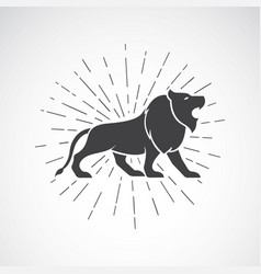 Lion on white background animal lion symbol vector