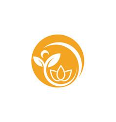 lotus flowers design logo template icon vector image