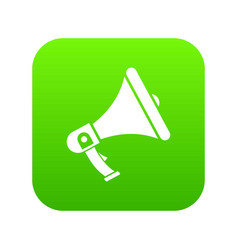 megaphone icon digital green vector image