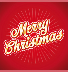 merry christmas greetings sign letter vector image