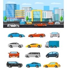 Modern Vehicles Composition vector image