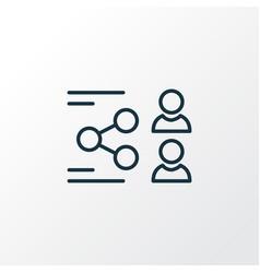 network icon line symbol premium quality isolated vector image