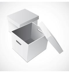 Open White Cardboard Carton Gift Box vector