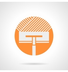 Orange round icon for floor insulation vector