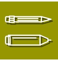 Permanent marker and pencil vector