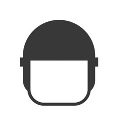 Police helmet police related solid icon vector