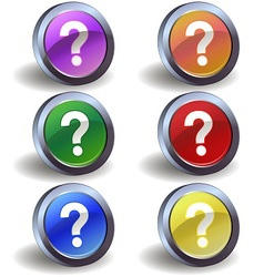 Question icons vector image vector image