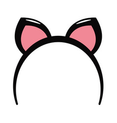 rabbit ears headband vector image
