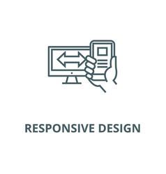 responsive design line icon linear concept vector image