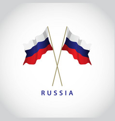 russia flag template design vector image