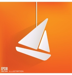 Sailboat ship icon vector