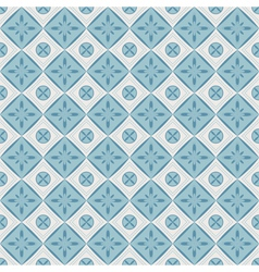 Seamless pattern with geometric diamond shapes vector