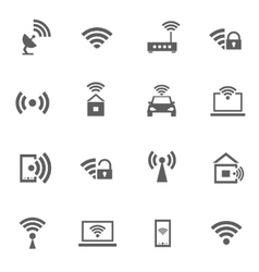 set wifi icons vector image