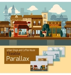 Shops tileable parallax vector