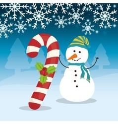 Snowman cartoon of Chistmas design vector image