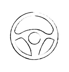 steering wheel car icon vector image