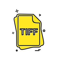 tiff file type icon design vector image