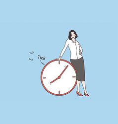 time management and deadline concept vector image