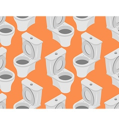 Toilet seamless pattern Accessory to toilet vector image
