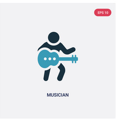 Two color musician icon from people skills vector