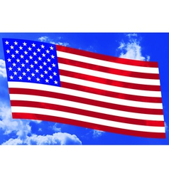 USA flag on sky vector image