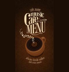 Vintage cafe menu design card vector