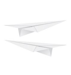 white paper airplane vector image