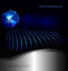 Abstract global background vector image vector image