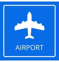 Airport sign Airplane icon vector image vector image