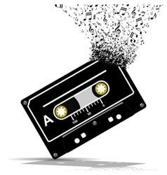 Audio cassette-Music vector image vector image