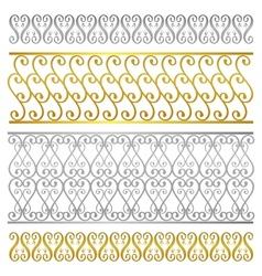 fence damask artistic pattern vector image vector image
