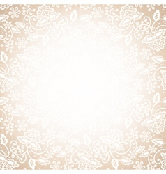 lace frame on beige background vector image vector image
