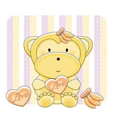 monkey love cartoon vector image vector image