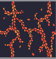 small orange leaves seamless pattern vector image vector image