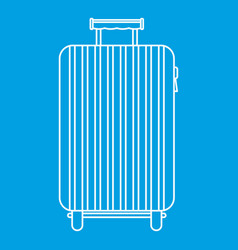 suitcase on wheels icon outline style vector image vector image