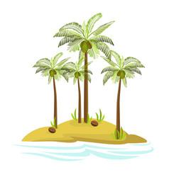 a palm tree on an island vector image