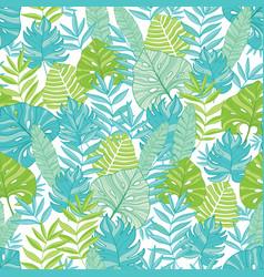 blue green tropical leaves summer hawaiian vector image vector image