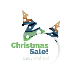 Christmas sale greeting card or banner vector image vector image