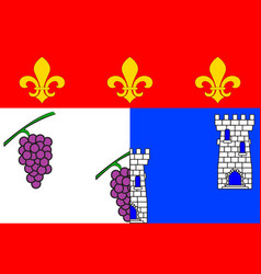 Flag of les andelys in eure of normandy is a vector
