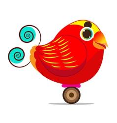 King Bird of Paradise bird cute cartoon abstract vector image