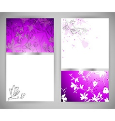 Set of Abstract Floral Banners vector image