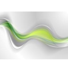 Smooth green grey abstract waves design vector image