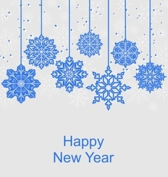 Winter Background for Happy New Year vector image vector image