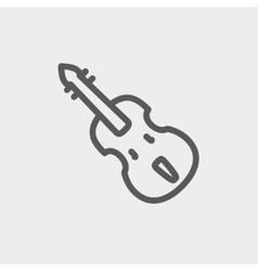 Cello thin line icon vector image
