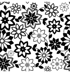 geometrical flowers seamless pattern vector image vector image